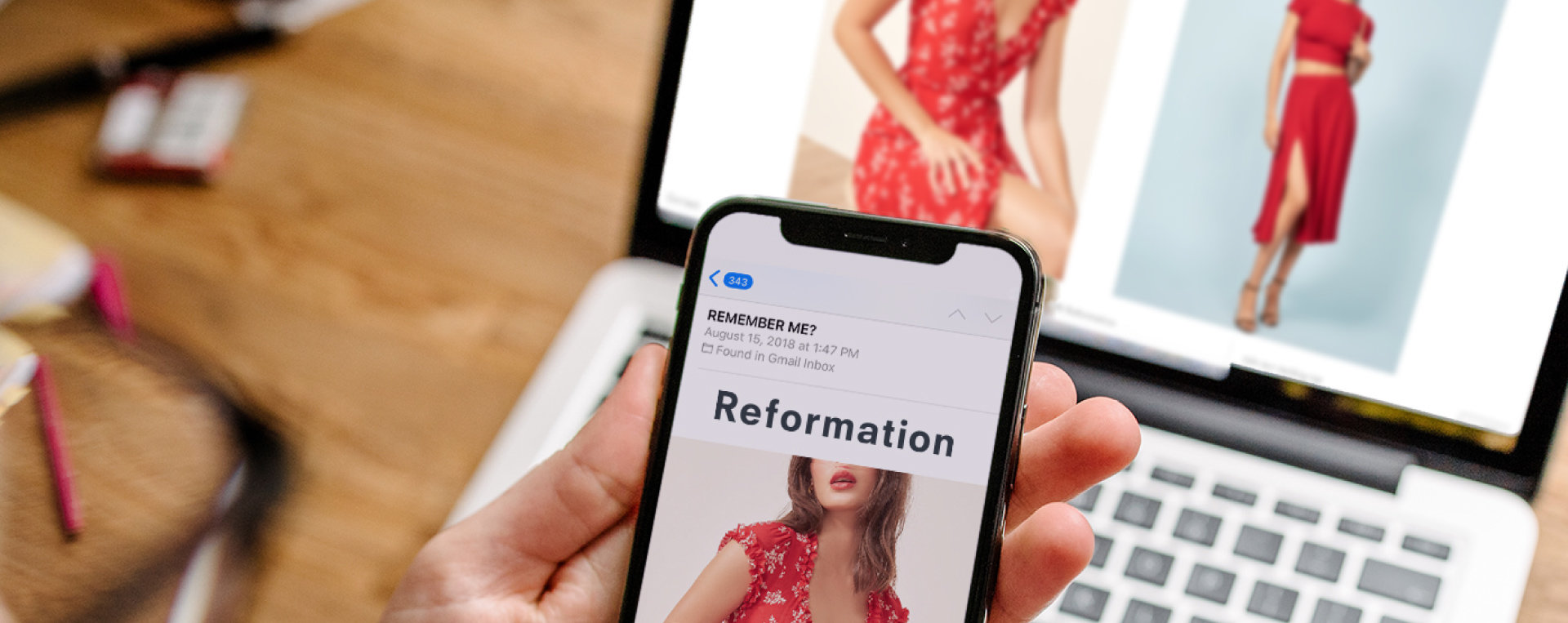 Reformation Desktop and Mobile Touchpoints